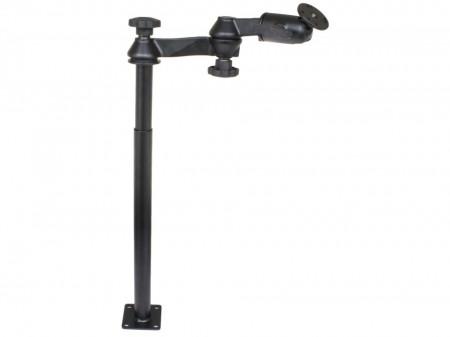 """RAM® Tele-Pole™ tartórendszer 12"""" és 18"""" szárakkal, dupla lengőkarokkal és kerek bázissal"""