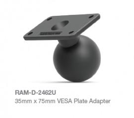 """RAM 35x75mm téglalap alakú tartó VESA rögzítési lyukakkal és 2,25""""-es golyóval"""