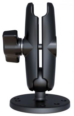Tartószerkezet egyik végén kör alakú AMPs furatú talppal és normál karral