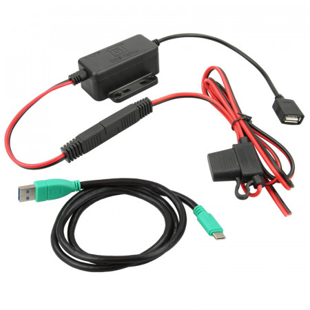 GDS® stabilizált fixen telepíthető töltő, USB Type-C kábellel