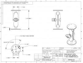 Tartószerkezet mindkét végén kör alakú AMPs furatú talppal és normál karral