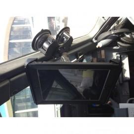 2x-os központosított vákuumos rögzítő bázis üvegre vagy sík felületre