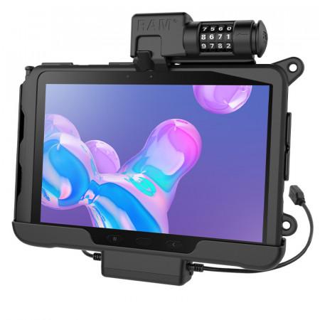 RAM® Skin™ számzáras Töltő és Adatkapcsolatos tartó bölcső Samsung Galaxy Tab® Active Pro-hoz