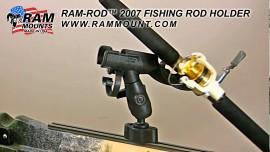 """RAM Track Ball™ sínpályába szerelhető gyorskioldós bázis 1,5""""-os (C-méretű) golyóval"""