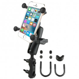 Univerzálisan felszerelhető komplett telefon/GPS tartó szett