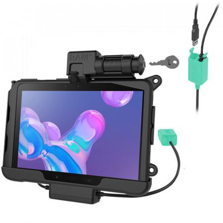 RAM® Skin™ kulcsos zárral rendelkező töltést és dupla adatkapcsolatot biztosító tartó bölcső Samsung Galaxy Tab® Active Pro-hoz