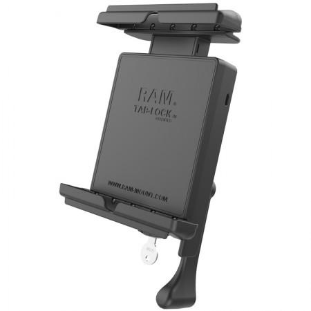 """RAM® Tab-Lock™ ZÁRHATÓ tartó bölcső védőtokban lévő 8""""-os  tabletekhez"""