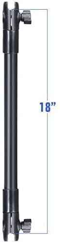 """RAM 45,8 cm-es hosszabbító összekötő rúd (2 db) 1""""-os rögzítő karral"""