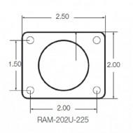 """RAM® C-típusú (1,5""""-os) univerzális tartószerkezet RÖVID karral és hátlaplemezzel"""