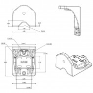 """RAM® függőleges felületre-csőre rögzítő rendszer 6""""-os lengőkarral"""
