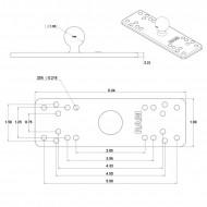 RAM® Univerzális tartószerkezet 16x5 cm-es tartóval és kör alakú talppal (B-méret)
