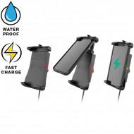 RAM® Quick-Grip™ vezeték nélküli töltővel rendelkező telefontartó motorkerékpáros USB adapterrel