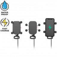 RAM® Tough-Charge™ X-Grip® vezeték nélküli töltővel rendelkező komplett telefon tartó szett kormányra vagy csőre