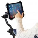 Tablet tartó állványrendszer kerekesszékhez