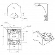 Függőleges felületre-csőre szerelhető forgatható karos tartó