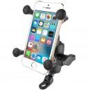 Komplett telefon tartó szett tükörhöz vagy csavarhoz (max. 9mm), RÖVID karral