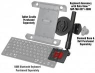 RAM® billentyűzet-kiegészítő tablet tartókhoz RAM® Roto-View™ adapterrel