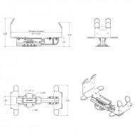 RAM univerzális hordozható nyomtató tartó tekercs papíros nyomtatókhoz