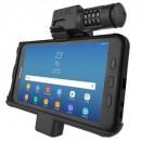 RAM számzáras tartó bölcső Samsung Galaxy Tab® Active2 és Active 8.0-hoz, menet közbeni töltéssel