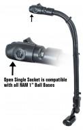 """RAM Track Ball halradar szonár tartó 18"""" alumínium rúddal és Track Ball™ bázissal"""