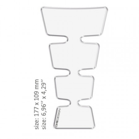 ONEDESIGN TANK PAD universal TRANSPARENT 17.7 x 10.9 cm