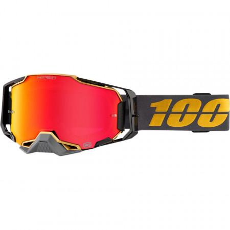 100% GOGGLE ARM FALCON5 cu lentila MIRROR RED