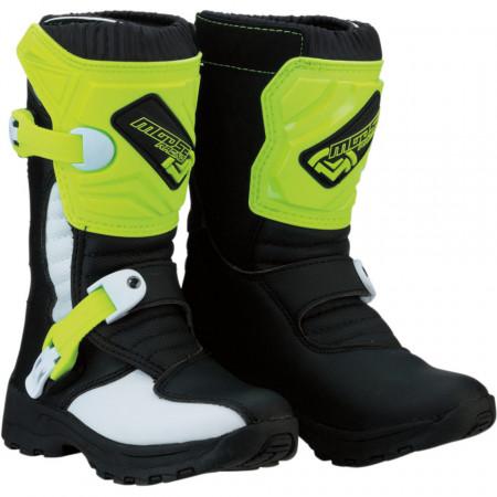 Cizme copii motocross / enduro MOOSE RACING S18C OFFROAD BOOTS HI-VIZ YELLOW/BLACK