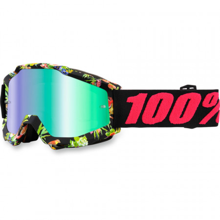 100% ACCURI CHAPTER 11 OFFROAD GOGGLE MIRROR GREEN LENS