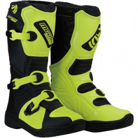 Cizme copii motocross / enduro MOOSE RACING S18Y OFFROAD BOOTS HI-VIZ YELLOW/BLACK