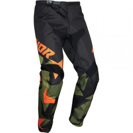 Pantalon copii motocross / enduro THOR SCT YTH WAR GN/OR