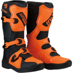 Cizme copii motocross / enduro MOOSE RACING S18Y OFFROAD BOOTS ORANGE/BLACK