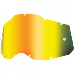 100% Lentila GOLD MIRROR compatibil Accuri 2| Racecraft 2| Strata 2