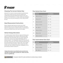 Casca THOR SECTR RACER W/BL/RD