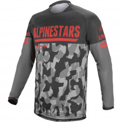 Tricou motocross / enduro ALPINESTARS JERS VENT-R GY/CAMO/RD