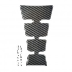 ONEDESIGN TANK PAD universal design CARBON 21.3 x 11.7 cm
