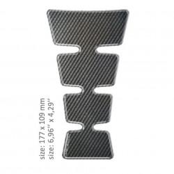 ONEDESIGN TANK PAD universal design CARBON 17.7 x 10.9 cm