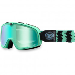 100% ABARSTOW ORNAMENTAL CONIFER RACING GOGGLE MIRROR GREEN LENS