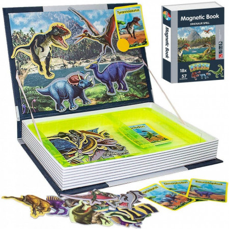 carte puzzle dinosaur spell
