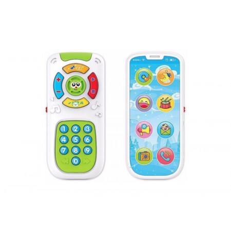 Jucarie interactiva 2 in 1, Telecomanda si Telefon Smartphone