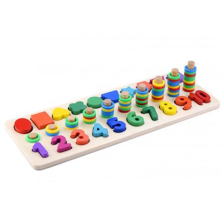 Jucarie educativa Montessori din lemn
