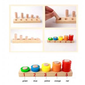 Joc educativ din lemn montessori Donuts number crunching