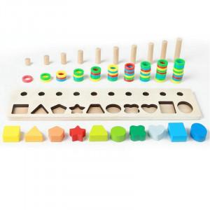 joc sortare lemn shape pairing