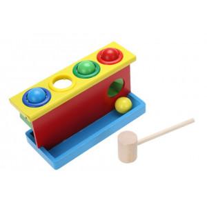 Joc educativ din lemn pentru copii Rolling the ball