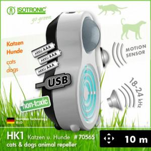 Aparat ultrasunete si sensor PIR anti caini si pisici HK1