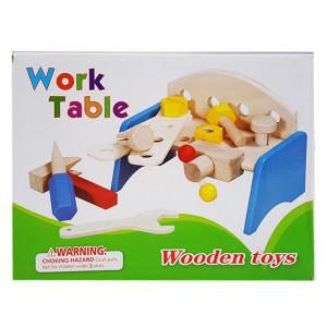 Banc de lucru din lemn pentru copii   Jucarie educativa Montessori din lemn   Work table