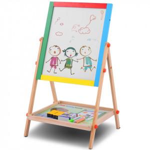 Tabla educativa din lemn cu doua fete tip sevalet | Tabla de scris 65x36cm