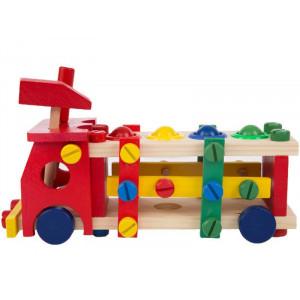 Camion din lemn cu functie de reasamblare-Reassembly screw car