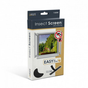 Plasa anti insecte pentru ferestre 130x150 negru , anti muste,anti tantari