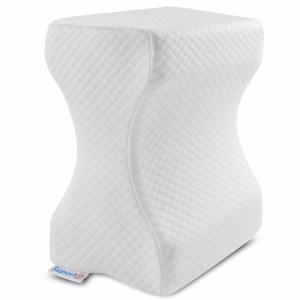 Set perne pentru dormit: Perna ortopedica cu suport cervical si perna pentru genunchi