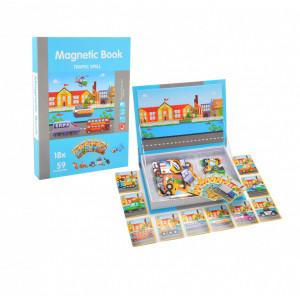 Joc educativ, carte puzzle cu piese magnetice Traffic Spell